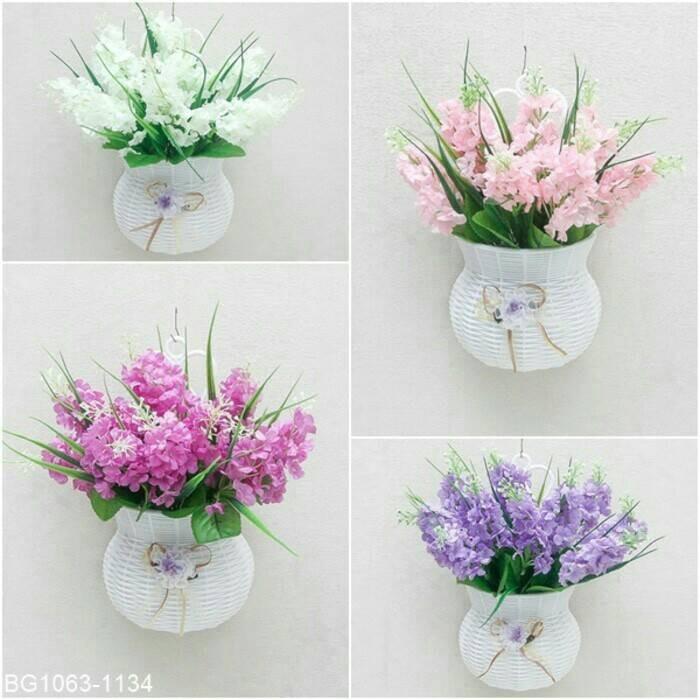 Bunga Hias Hiasan Rumah Dinding Lavender Plastik