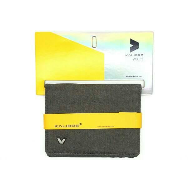 Kalibre 995056-999 Dompet Denim Jeans Abu Wallet Grey