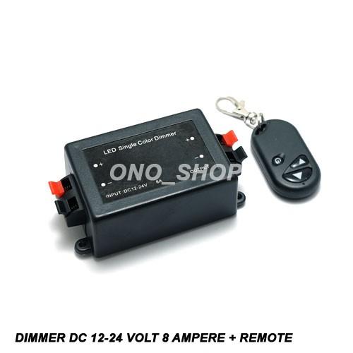 harga Dimmer led dc 12-24 volt 8 ampere + remote Tokopedia.com