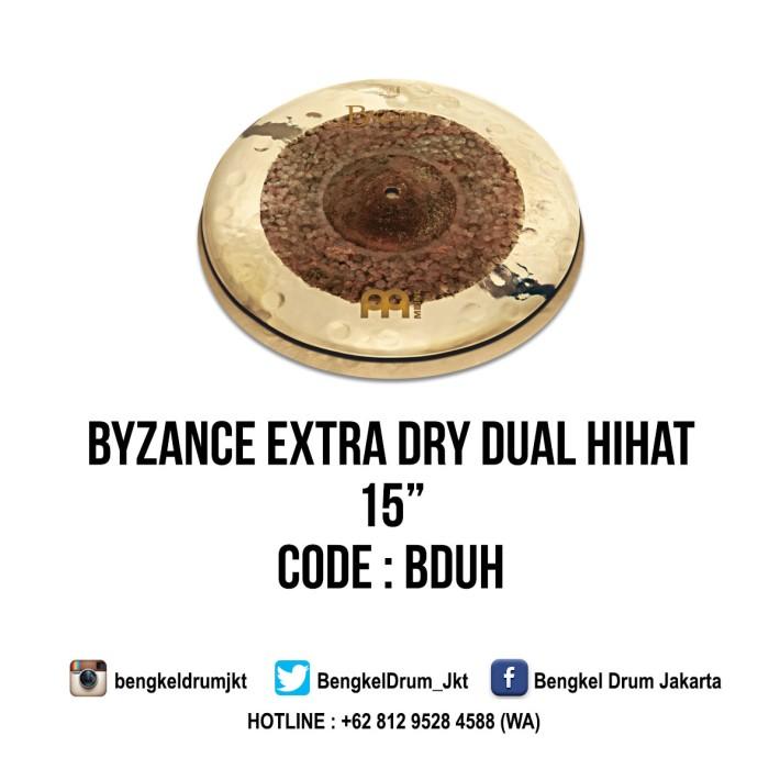 "Foto Produk Meinl Cymbal Byzance Extra Dry Dual HiHat 15"" dari Bengkel Drum Jakarta"