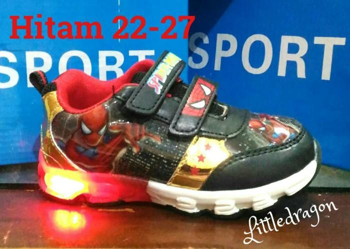 harga Sepatu spiderman lampu (size:22-33)#sepatu anak laki #sepatu superman Tokopedia.com