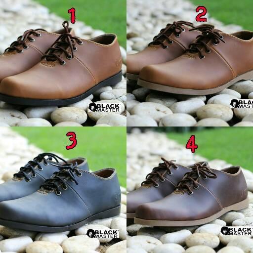 harga Sepatu pantofel formal kulit low brodo black master keren pesta kerja Tokopedia.com