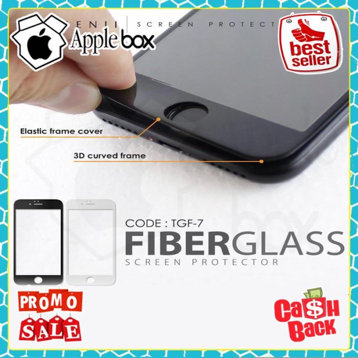 harga Iphone 7 tempered fiber glass genji premium full cover lcd Tokopedia.com