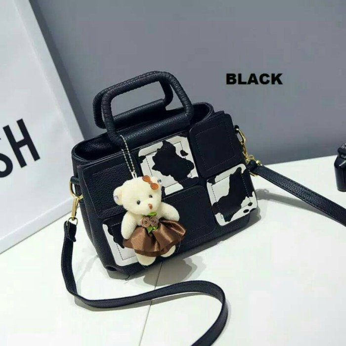 EXOXY 1709 Tas Handbag Selempang Import Wanita Black Hitam