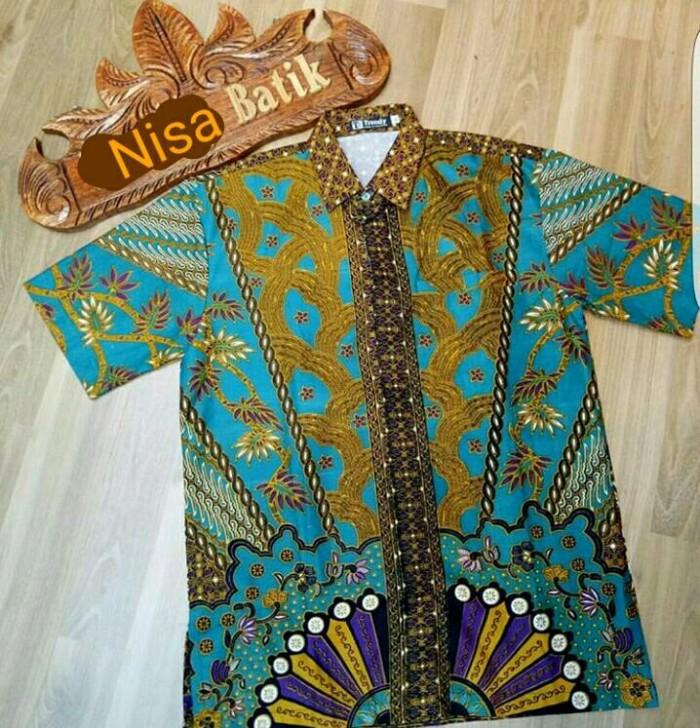 Toko Pedia Baju Batik: Jual Baju Batik Kemeja Hem Pria Baru Motif Sinaran2 Hijau