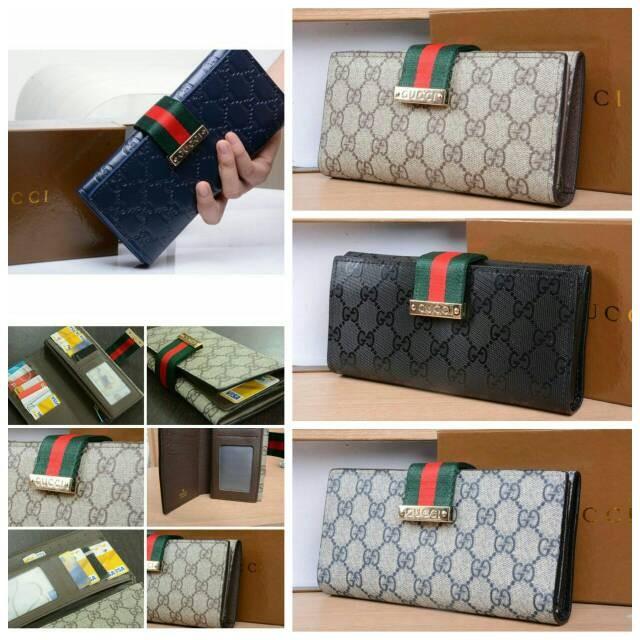 Jual Dompet Gucci Grade AAA Seri 8126  Dompet Wanita Branded Semi ... edeb20ad51
