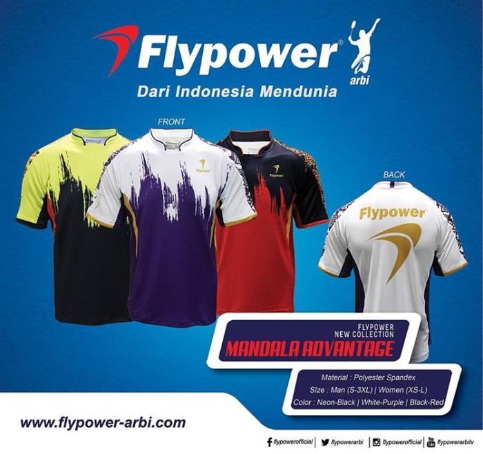 harga Baju kaos olahraga / kaos badminton flypower mandala advantage Tokopedia.com