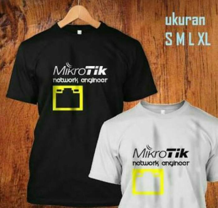 harga Kaos mikrotik/tshirt/baju/tees Tokopedia.com