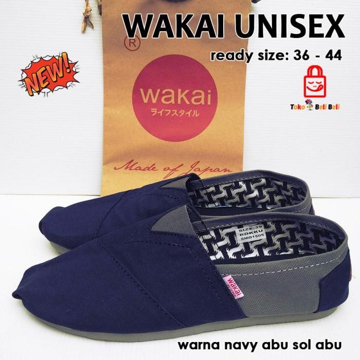 Jual sepatu wakai murah pria wanita unisex - navy abu   sepa Diskon ... b1516a4d00