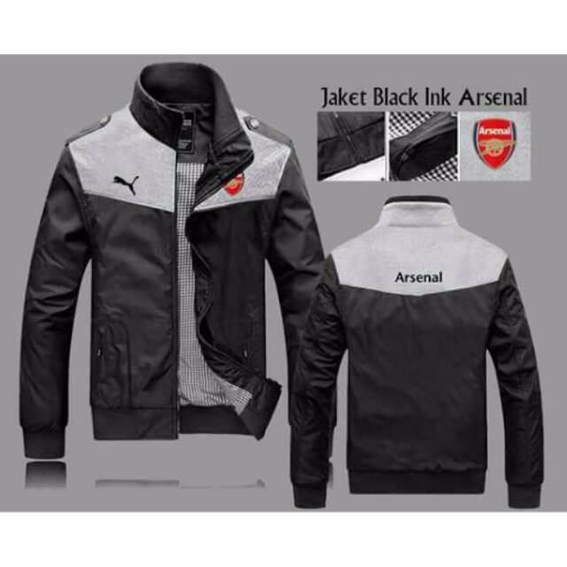 harga Promo murah jaket black ink arsenal pria cowok klub bola Tokopedia.com