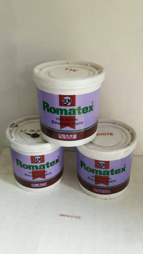 harga Cat tembok romatex/cat emulsion romatex 1 kg Tokopedia.com