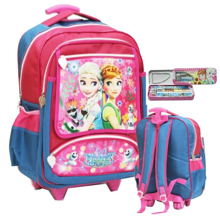 harga Tas trolley anak sekolah sd frozen fever kantung besar+kotak pensil Tokopedia.com