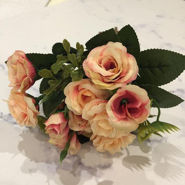 harga Bunga plastik shabbychic artifical mawar minis pink Tokopedia.com