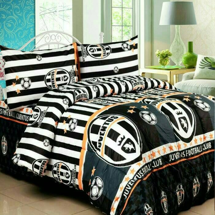 Official Juventus Football Club Black And White Mono Single Duvet Bedding Set Duvet Covers Bedding Sets Home Garden