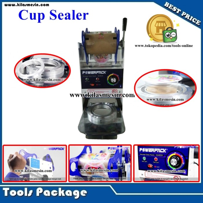 harga Cup sealer mesin press penyegel gelas plastik pop ice pwp-cs-m727i Tokopedia.com