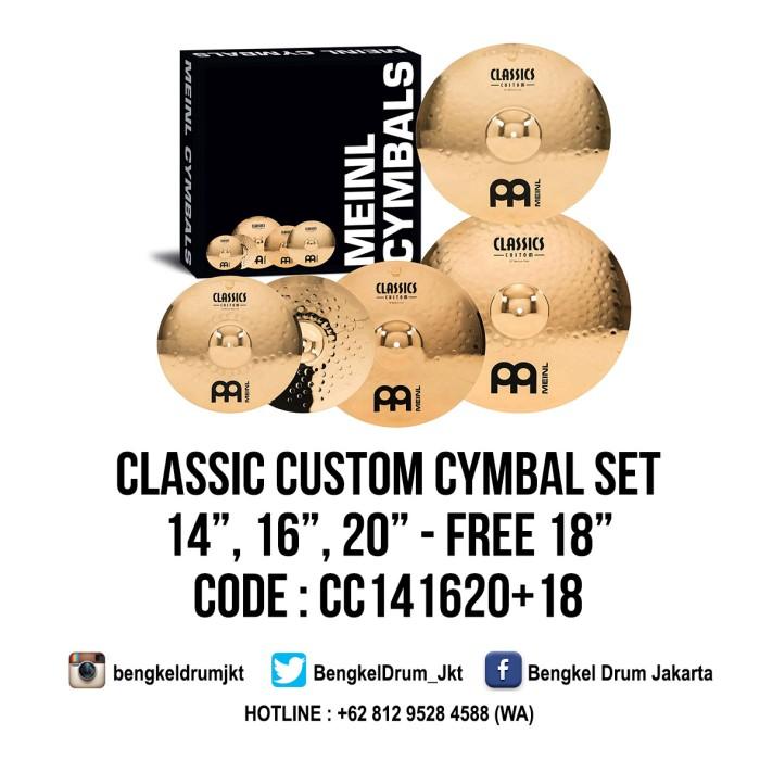 "Foto Produk Meinl Cymbal Classic Custom Cymbal Set 14"", 16"", 20"" + 18"" dari Bengkel Drum Jakarta"
