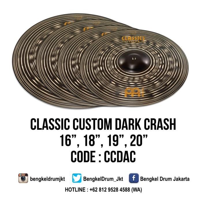 "Foto Produk Meinl Cymbal Classic Custom Dark Crash 18"" dari Bengkel Drum Jakarta"