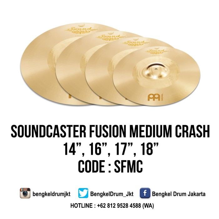 "Foto Produk Meinl Cymbal Soundcaster Fusion Medium Crash 14"" dari Bengkel Drum Jakarta"
