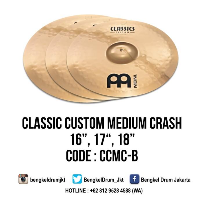 "Foto Produk Meinl Cymbal Classic Custom Medium Crash 18"" dari Bengkel Drum Jakarta"