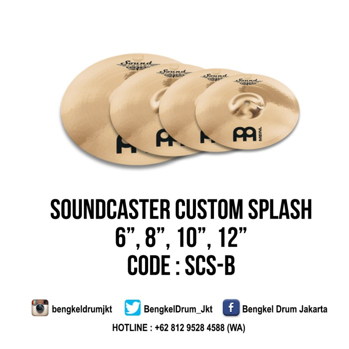 "Foto Produk Meinl Cymbal Soundcaster Custom Splash 6"" dari Bengkel Drum Jakarta"
