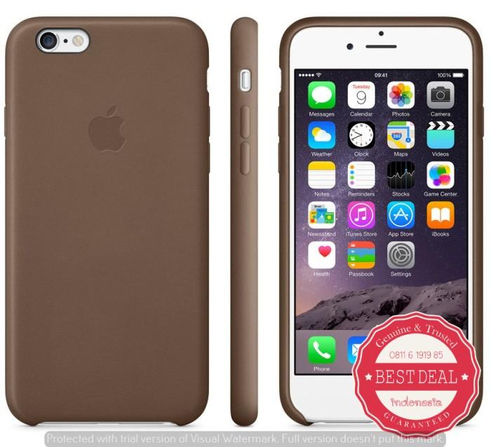 detailed look 18146 53a98 Jual APPLE IPHONE 6S PLUS LEATHER CASE ORIGINAL BROWN - DKI Jakarta - Best  Deal Indonesia | Tokopedia
