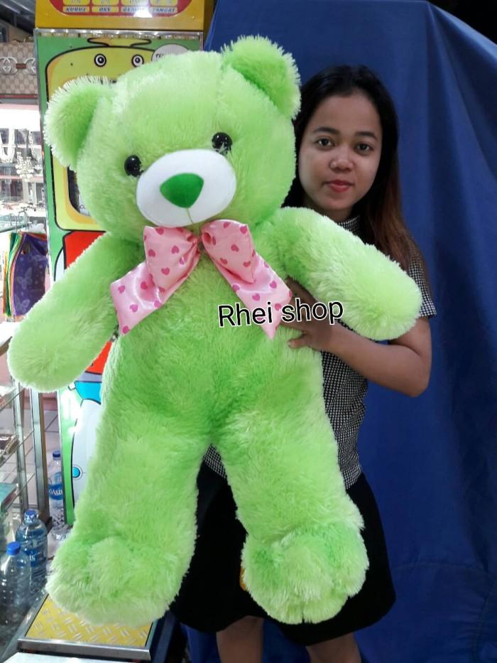 harga Boneka teddy bear jumbo hijau Tokopedia.com