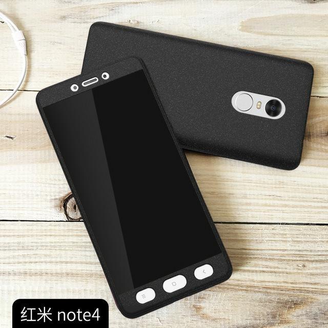 Hardcase 360 Xiaomi Redmi Note 4 Fullset Free Tempered glass