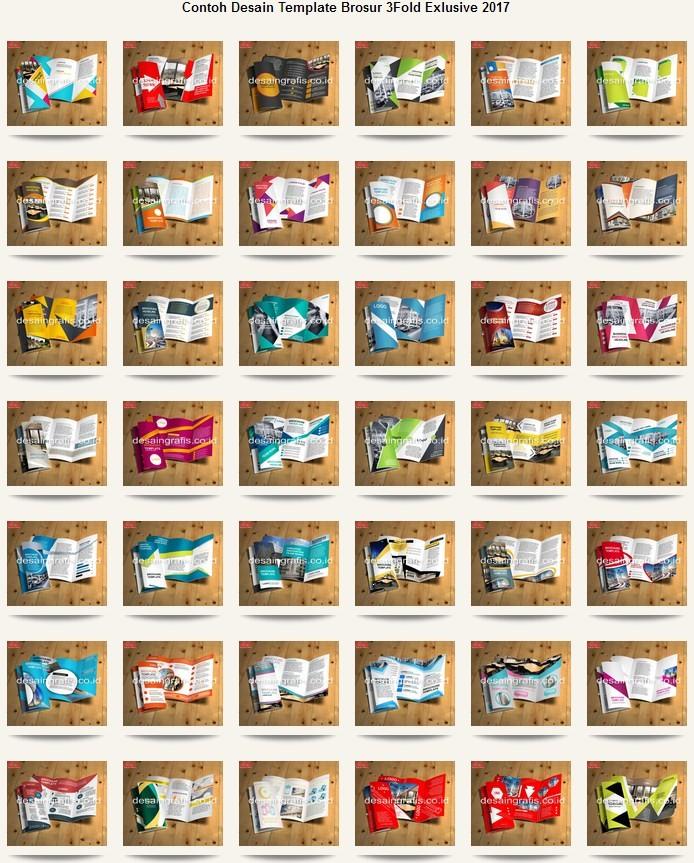 Jual Koleksi Template Desain Brosur 3 Lipat 3 Fold Format Coreldraw