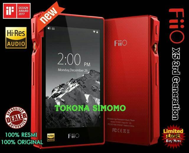 harga Fiio x5 3rd generation mastering quality digital audio player original Tokopedia.com