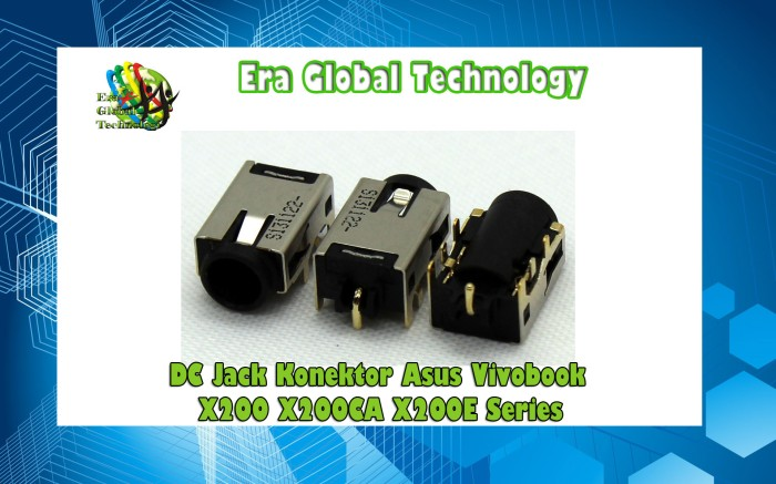AC DC POWER JACK for ASUS ZENBOOK UX52 UX52VS UX52V VIVOBOOK Q200E X202E S200E