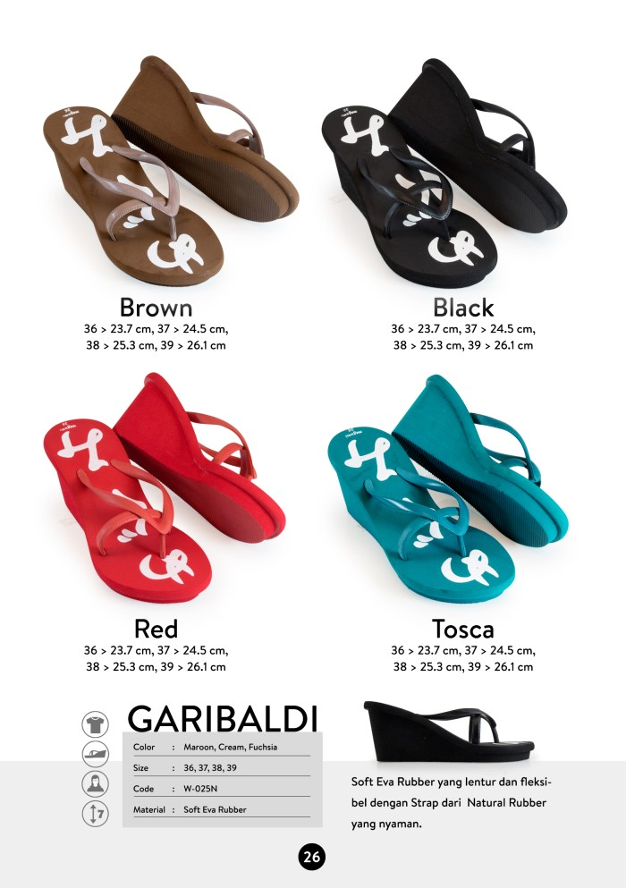 harga Sandal megumi wanita garibaldi hanya di butika shop Tokopedia.com