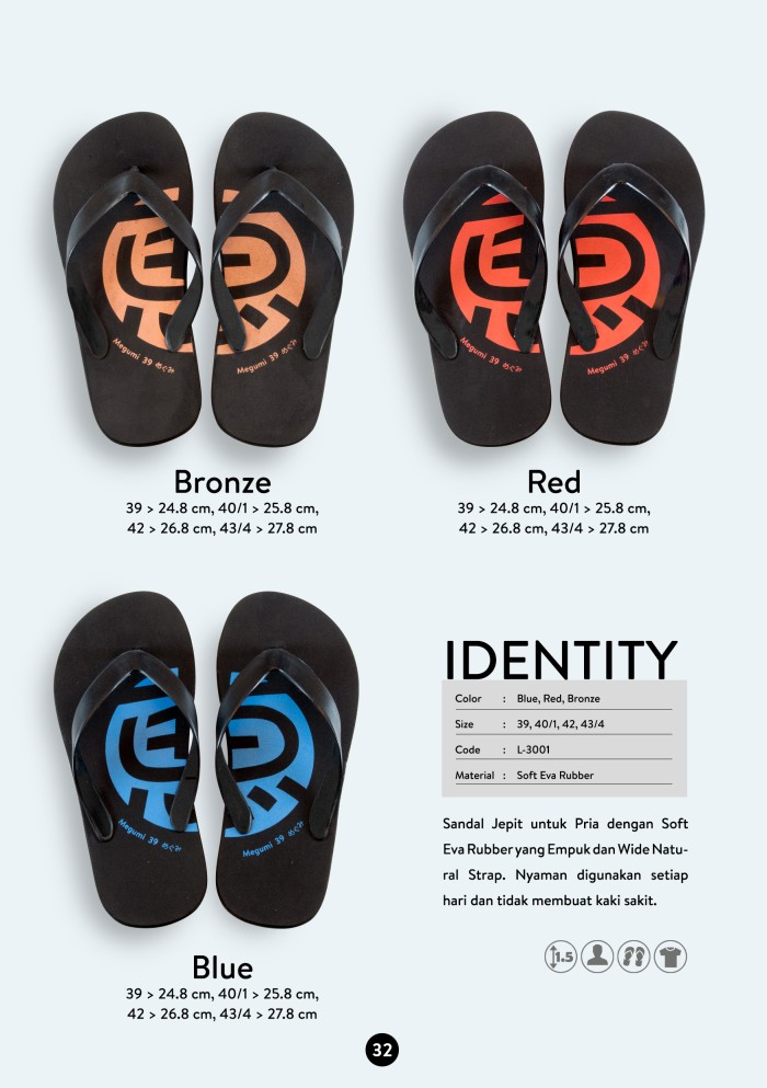 harga Sandal megumi pria identity hanya di butika shop Tokopedia.com
