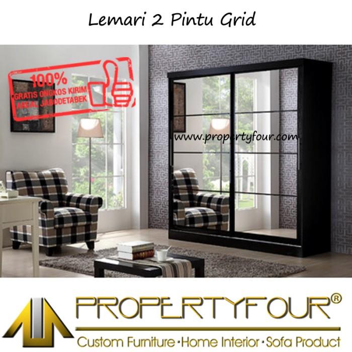 harga Lemari + pakaian + baju + bahan tebal + 2 pintu + jumbo + grid Tokopedia.com
