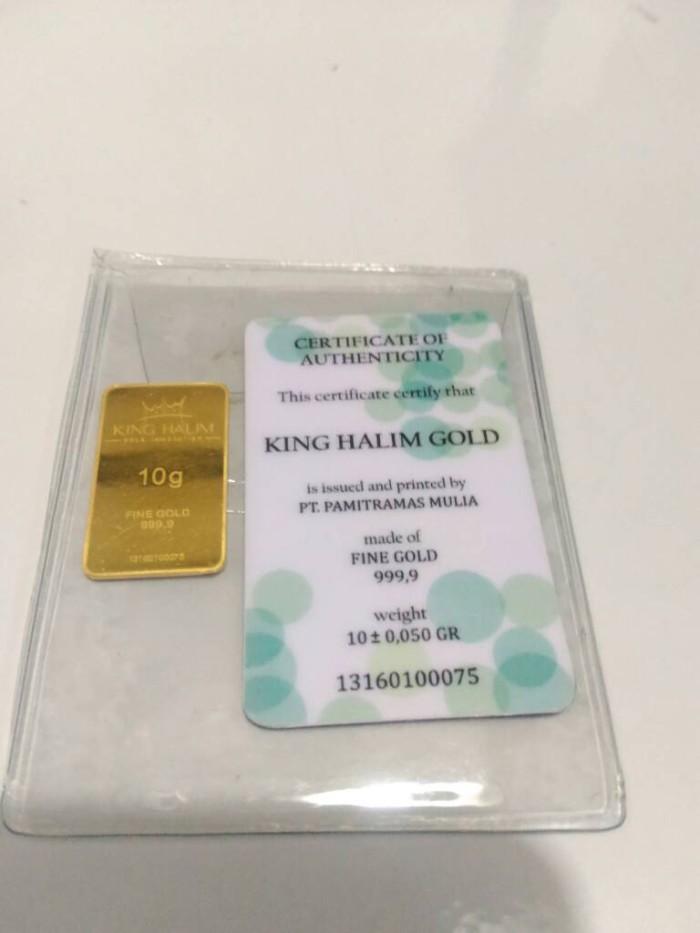 Jual Logam Mulia Emas King Halim 10 Gram Fine Gold 9999 Murni