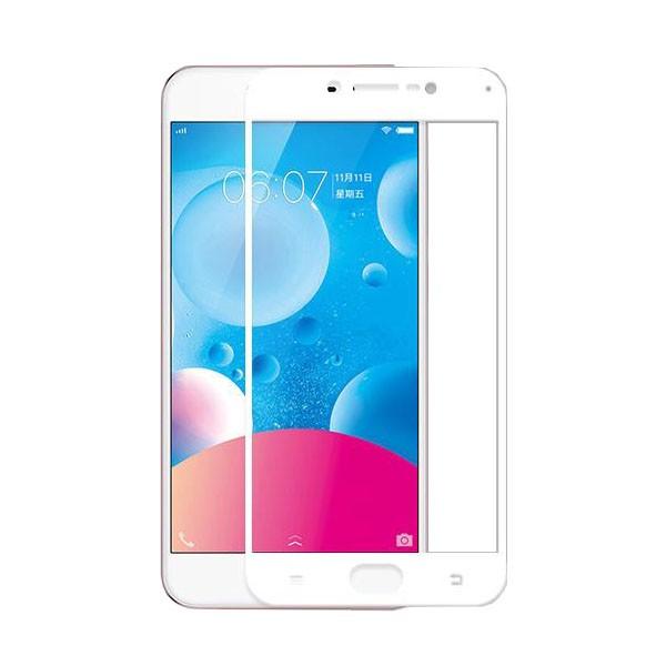 HMC Vivo V5 Plus - 2.5D Full Screen Tempered Glass + Lis Putih