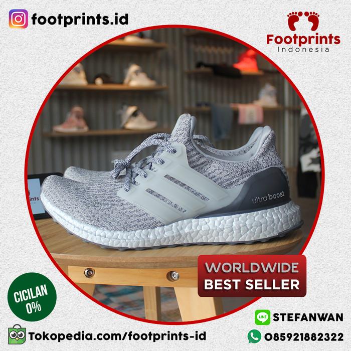 9407ec366 Jual Sepatu Adidas Ultra Boost Silver Pack (BA8143) 100% Original ...
