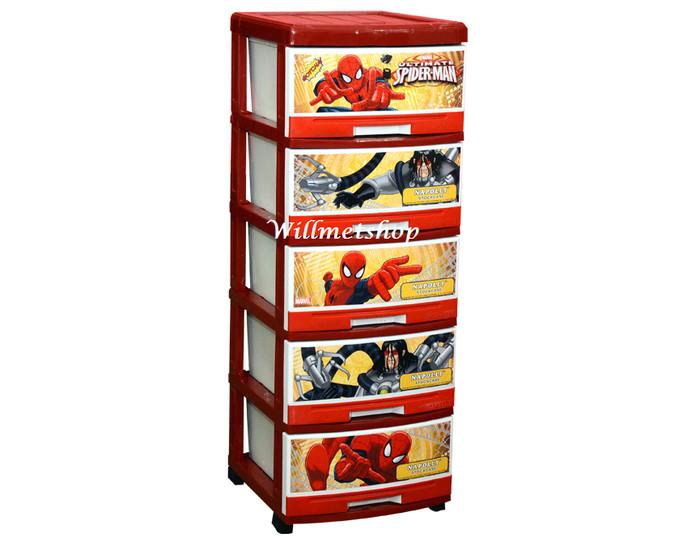 harga Lemari plastik napolly 5 susun laci spiderman 5000 spgc Tokopedia.com