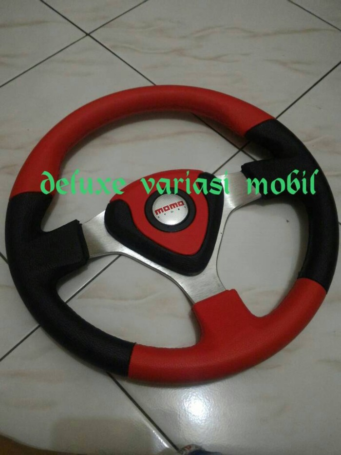 harga Steer/stir racing momo evo/datar 14 inch universal merah hitam Tokopedia.com