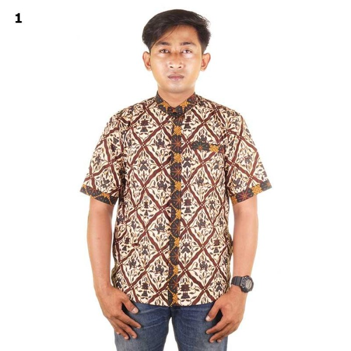 Baju koko batik  abrar motif 1 - katun primisima