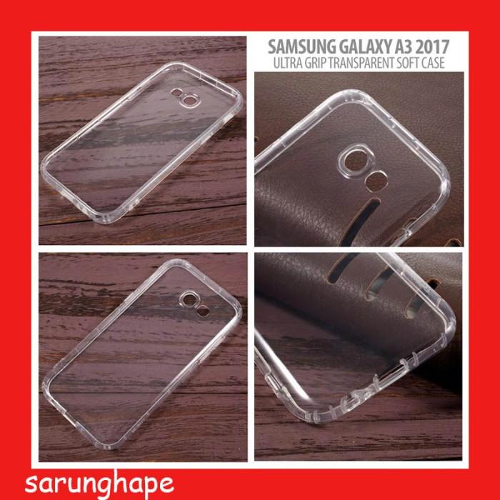 harga Samsung galaxy a3 2017 ultra grip transparent soft case casing cover Tokopedia.com