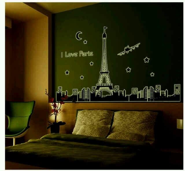 jual wall sticker glow in the dark 60x90 wall stiker abq9602 i love