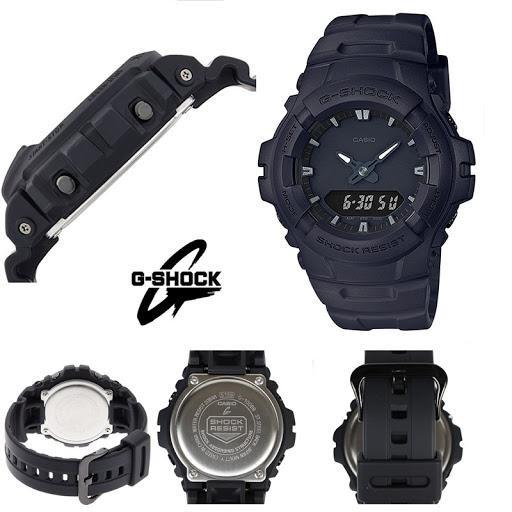Casio G-Shock Sport Pria G-100BB-1A Full Black Original