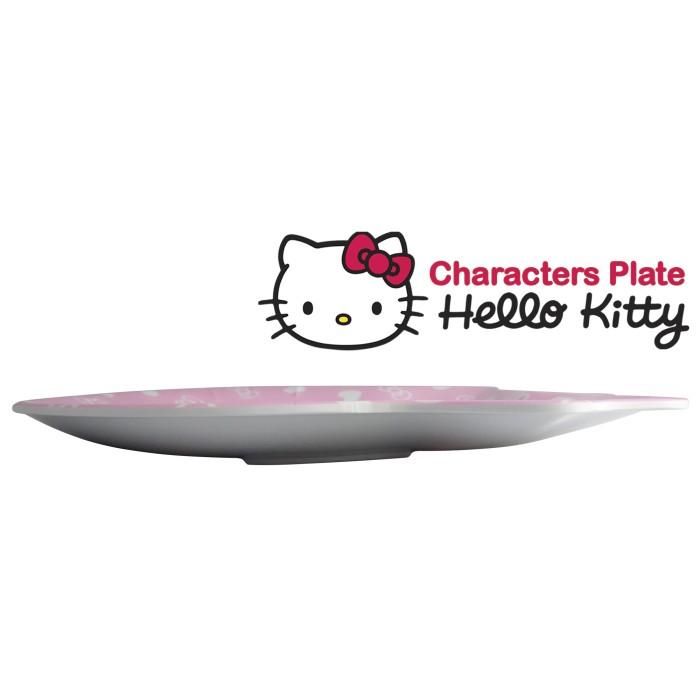 Piring Melamin Karakter Hello Kitty Besar -Pink