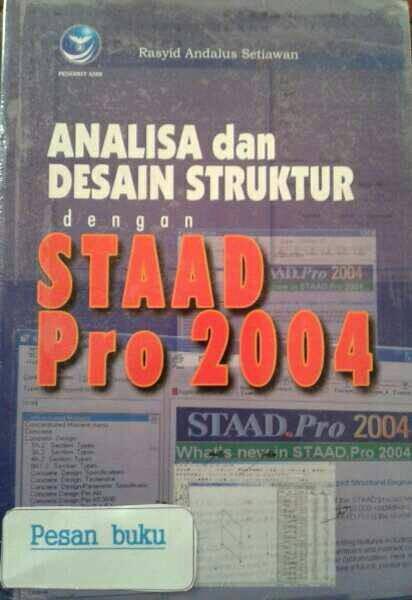 harga Buku analisa dan desain struktur dengan staad pro 2004 Tokopedia.com