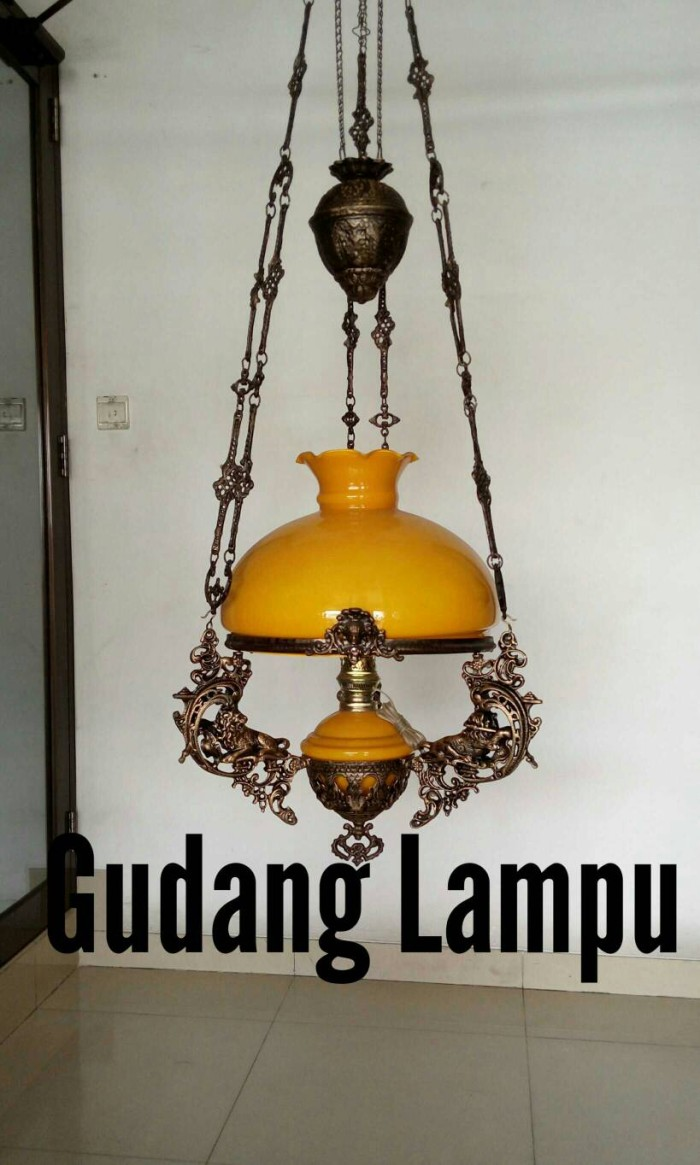 harga Lampu gantung kerek antik r40 kap bergelombang Tokopedia.com