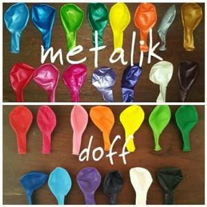 Balon metalik aneka warna per pack termurah