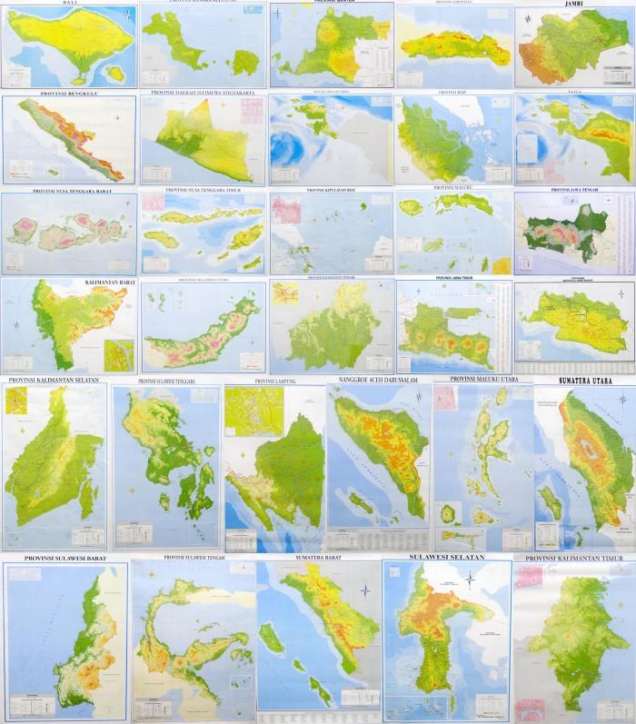 Jual Peta 34 Provinsi Lipat 1 Set 34 Buah Peta Jakarta Pusat Narwastu Shop Tokopedia