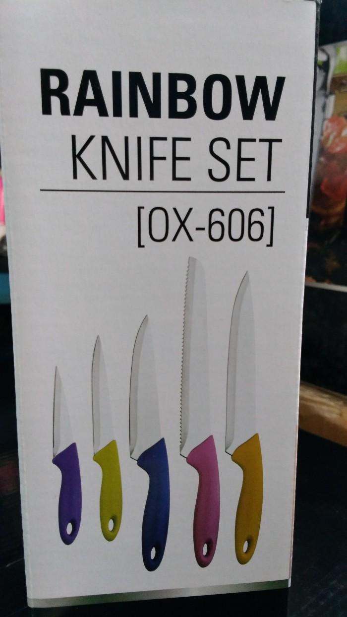 Pisau Set Oxone Rainbow Knife Set Ox-606