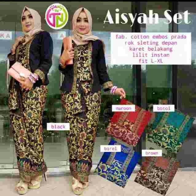 ... harga Baju batik solo - setelan rok blus aisyah - setelan lilit batik  solo Tokopedia. b48508cb56