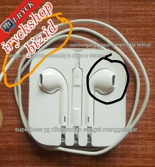 harga Headset earphone handsfree apple iphone 5/5s/6/6+/6 plus original 100% Tokopedia.com